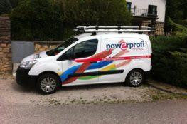Fahrzeug Beschriftung Powerprofi Reisinger