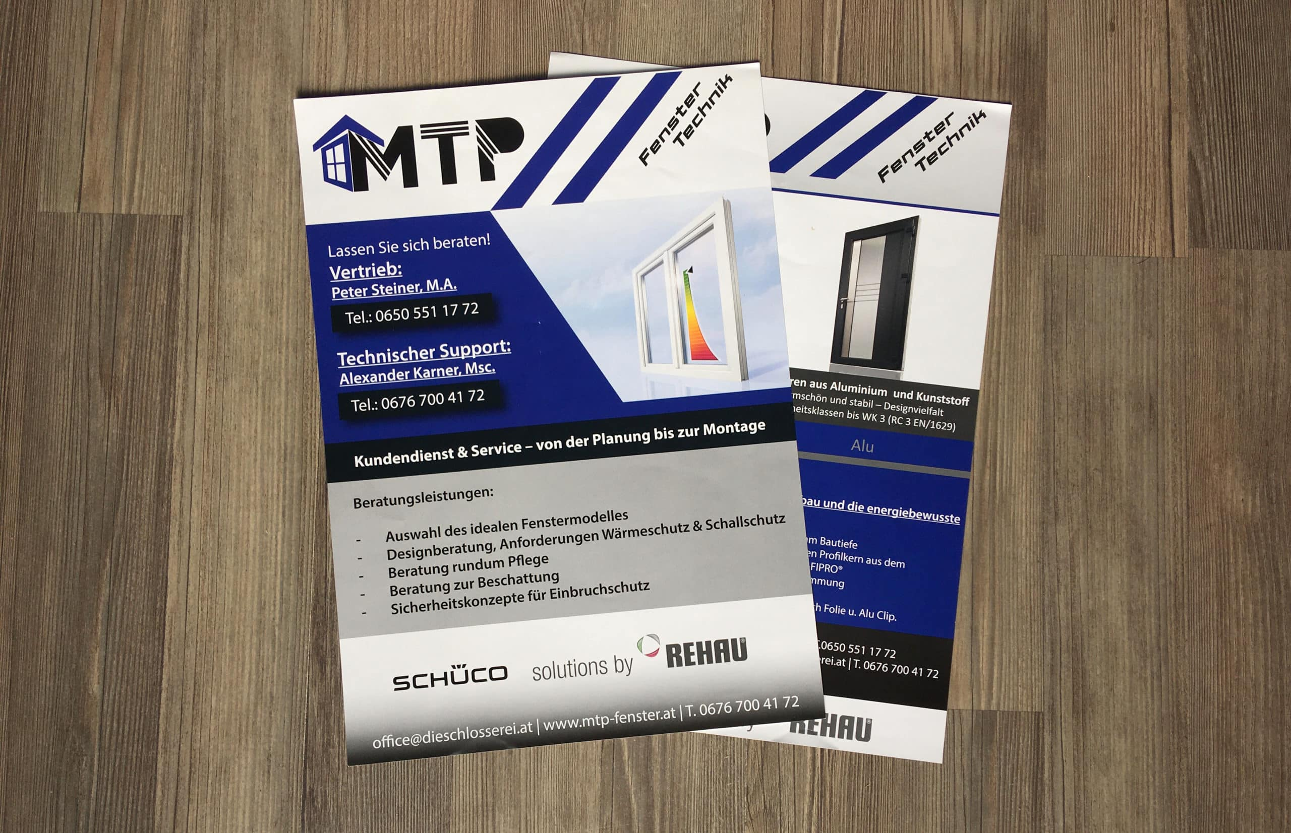 Flyer MTP Fenster Technik