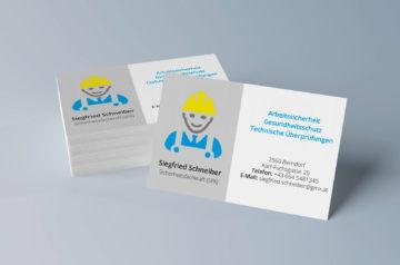 Visitenkarte Sicherheitsfachkraft Siegfried Schneiber