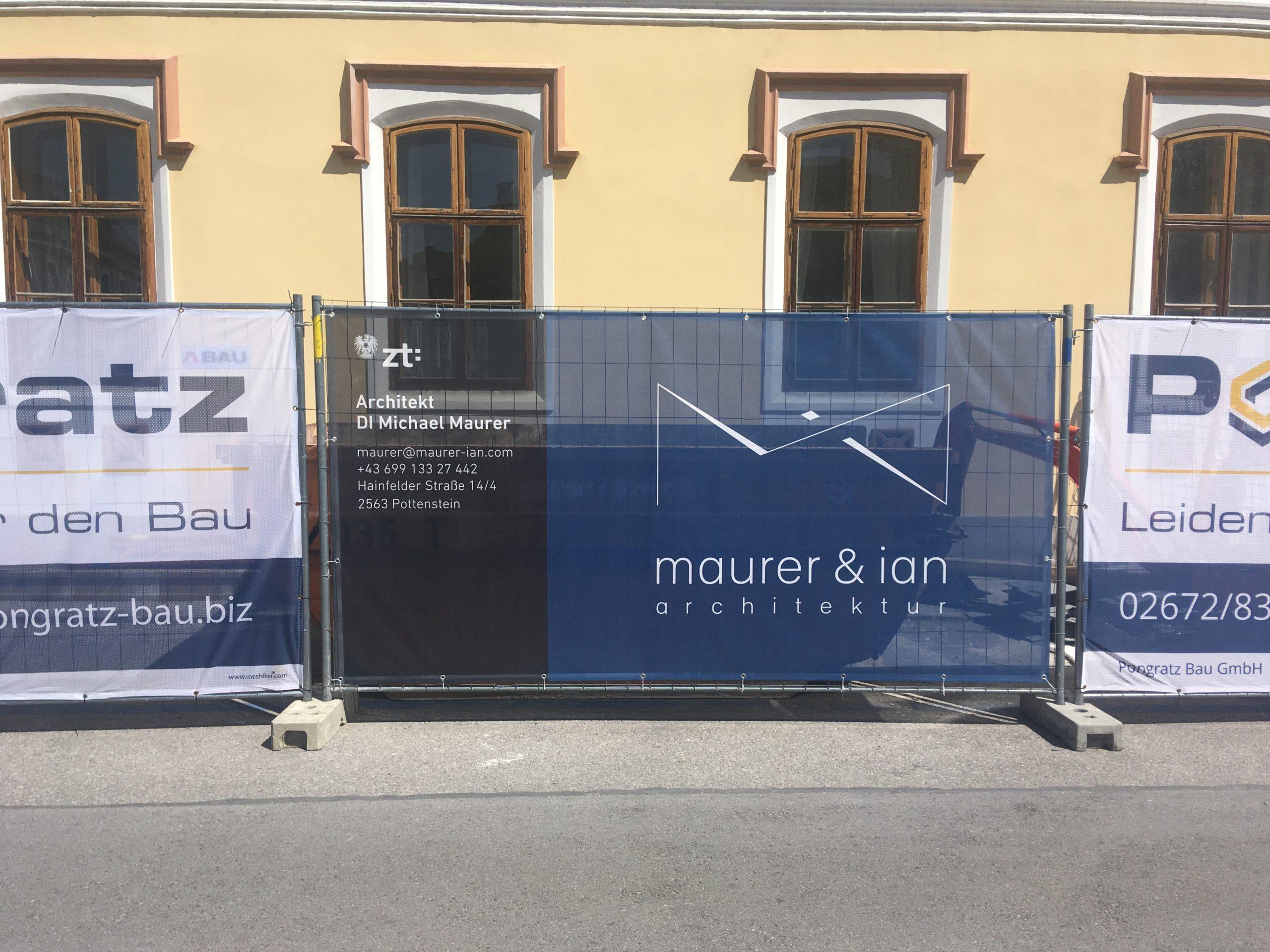 Bauzaunblende_Architekt_DI_Michael_Maurer